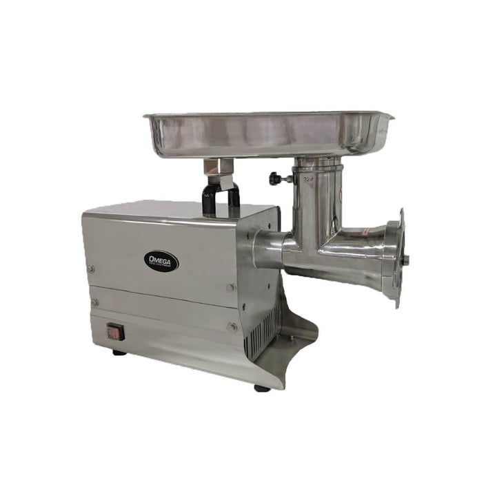 "Omega HFM-32 Size 32 Meat Grinder - 15.5"" x 10"" Feeding Pan, 2 HP, 120V - Omni Food Equipment"