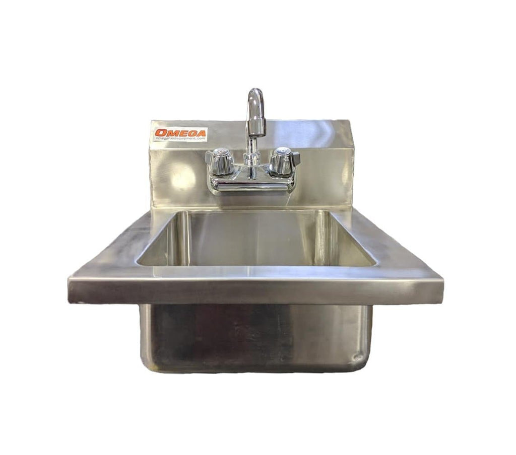 Omega Sshs14 Small Wall Mounted Hand Sink Omni Food Equipment