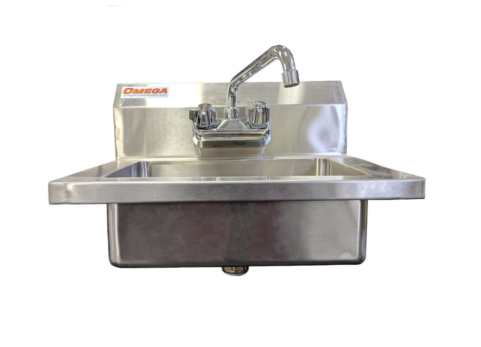 Omega SSHS15 Large Wall Mounted Hand Sink - Omni Food Equipment