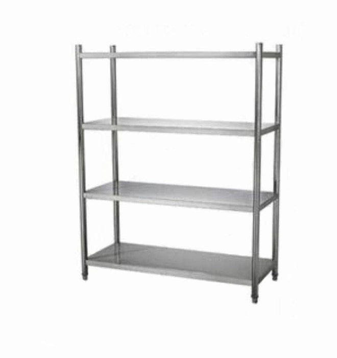 Omega Stainless Steel 4 Tier Free Standing Shelf - Various Sizes - Omni Food Equipment