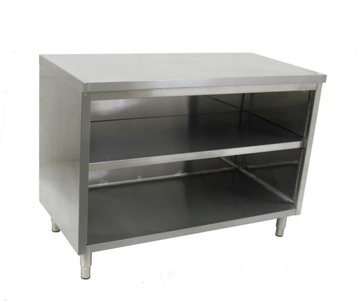 Omega Stainless Steel Open Dish Cabinets Without Doors - Various Sizes - Omni Food Equipment
