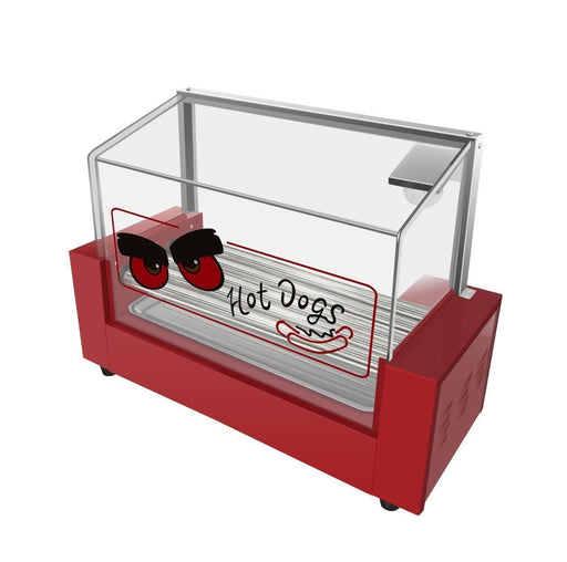 Omega ZHG-05 Hot Dog Roller - 5 Rollers, 12 Hot Dog Capacity - Omni Food Equipment
