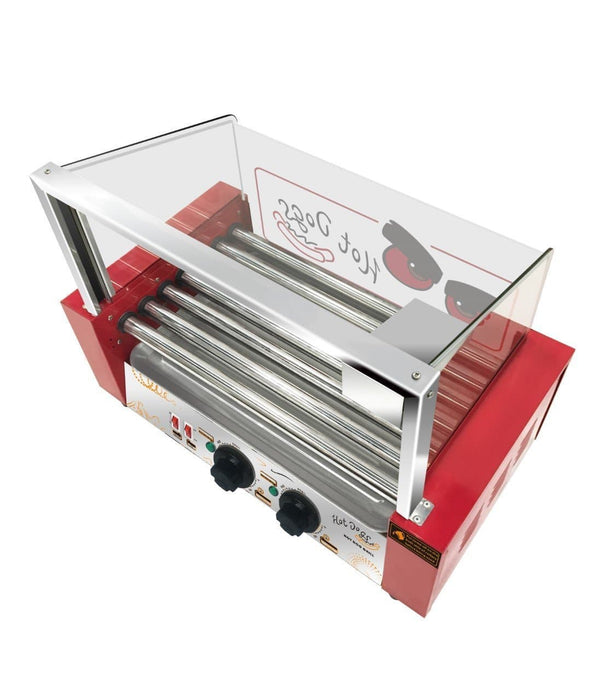 Omega ZHG-07 Hot Dog Roller - 7 Rollers, 18 Hot Dog Capacity - Omni Food Equipment