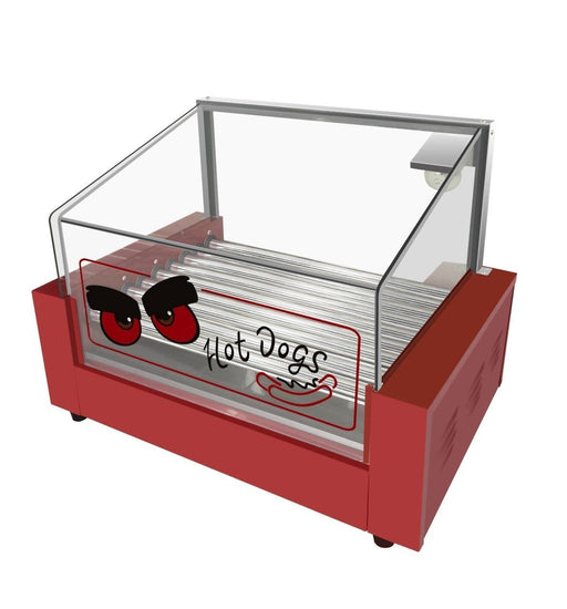 Omega ZHG-09 Hot Dog Roller - 9 Rollers, 24 Hot Dog Capacity - Omni Food Equipment
