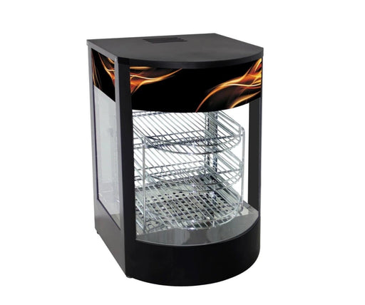 Omega ZWS-834 Curved Glass Display Food Warmer - Omni Food Equipment