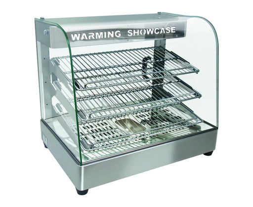 "Omega ZWS-862 Curved Glass 26"" Display Food Warmer - Omni Food Equipment"
