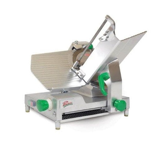 "Primo PS-12D Manual Aluminum Meat Slicer - 12"" Blade, 1/2 HP, Belt Drive - Omni Food Equipment"