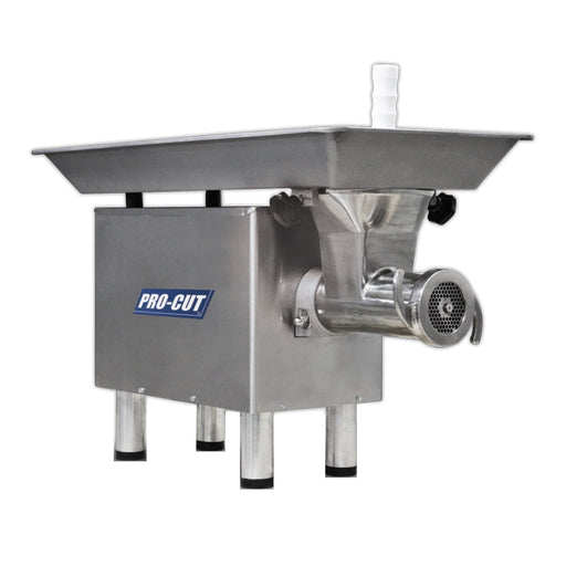 "Pro-Cut KG-22W-SS Size 22 Meat Grinder - Large 30.2"" x 16.1"" Feeding Pan, 1 HP, 120V, Single Phase - Omni Food Equipment"