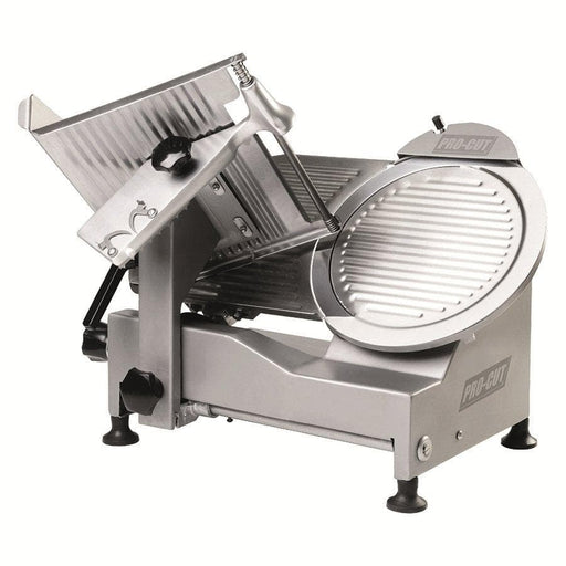 "Pro-Cut KSDS-12 Manual Stainless Steel Meat Slicer - 12"" Blade, 1/3 HP, Belt Drive - Omni Food Equipment"