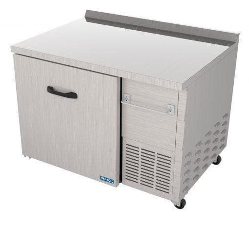 "Pro-Kold UCT-44-01 Single Door 44"" Refrigerated Work Table - Side Mounted Compressor - Omni Food Equipment"