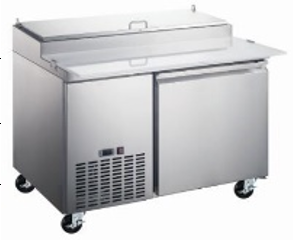 "Canco PT50-6 Single Door 50"" Refrigerated Pizza Prep Table"
