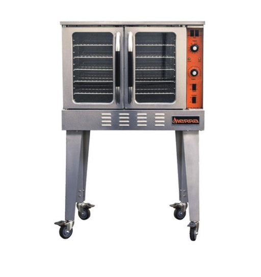 Sierra SRCO-E Single Electric Convection Oven - 208-240V, Three Phase, Fits 5 Full Size Sheet Pans - Omni Food Equipment