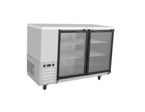 "Suttonaire MBB59G Commercial 58"" Double Swing Glass Door Back Bar Cooler - Omni Food Equipment"