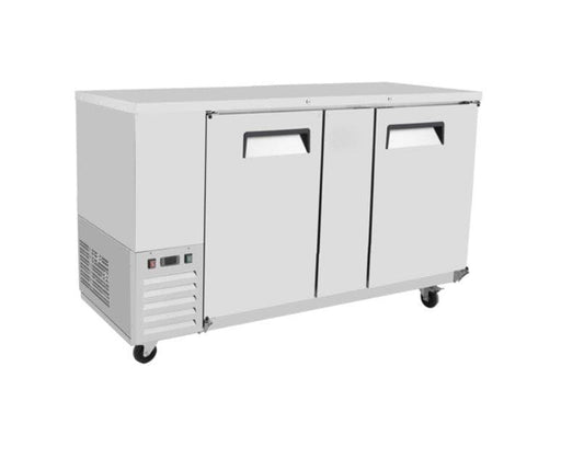 "Suttonaire MBB69 Commercial 68"" Double Swing Solid Door Back Bar Cooler - Omni Food Equipment"