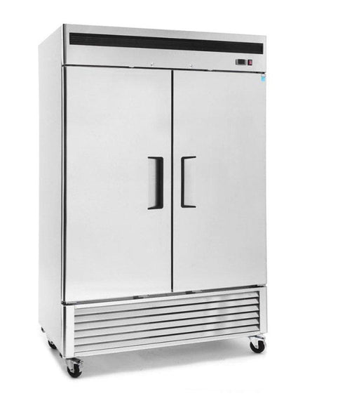 "Suttonaire MBF8507 Double Solid Door 55"" Wide Stainless Steel Refrigerator - Omni Food Equipment"