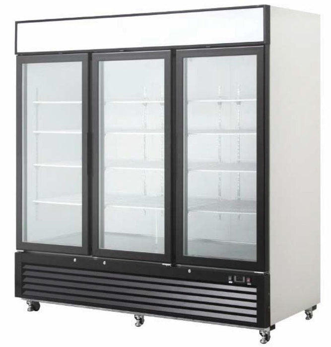 "Suttonaire MCF8717 Triple Swing Door 82"" Wide Display Refrigerator - Omni Food Equipment"