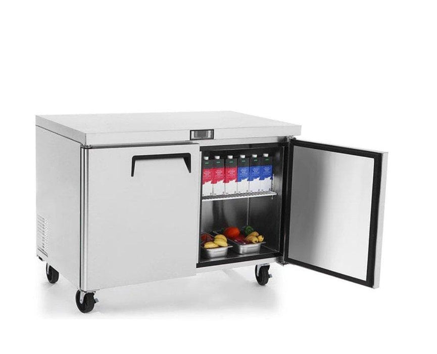 "Suttonaire MGF8402 Double Door 48"" Refrigerated Work Table - Omni Food Equipment"