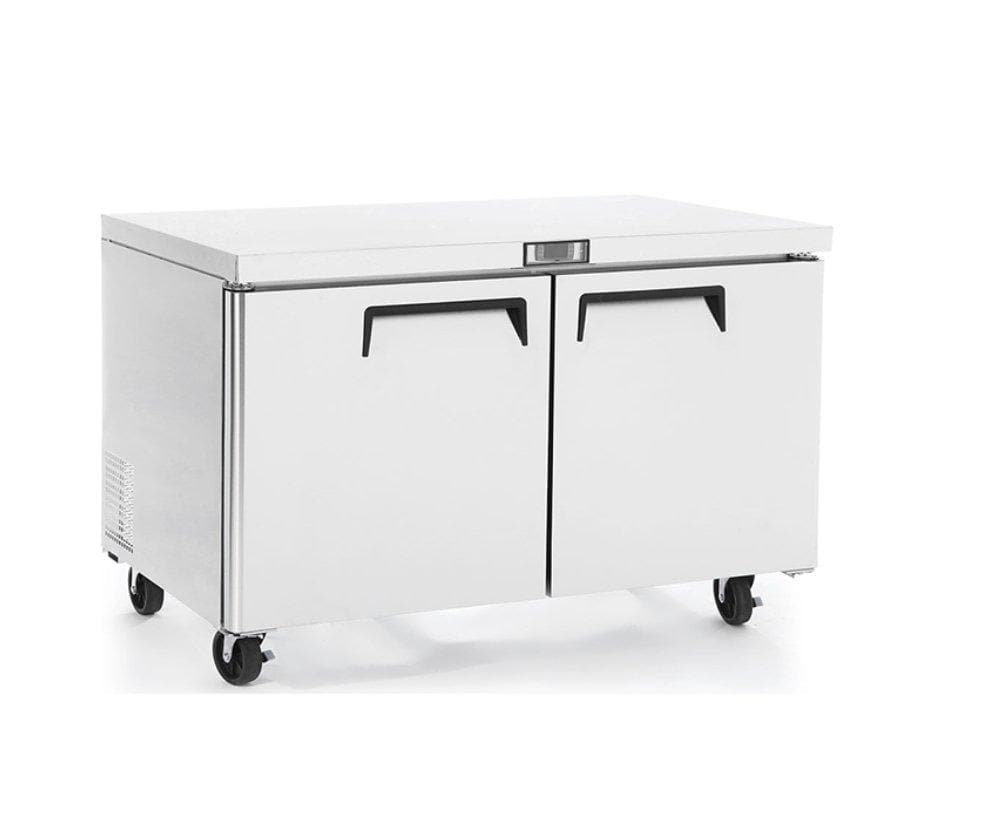 "Suttonaire MGF8403 Double Door 60"" Refrigerated Work Table - Omni Food Equipment"