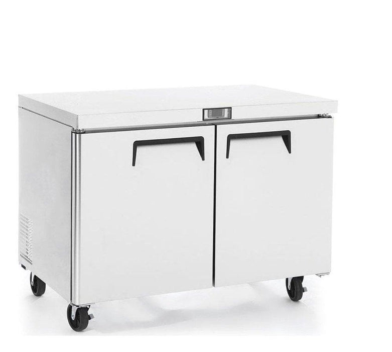 "Suttonaire MGF8406 Double Door 48"" Freezer Work Table - Omni Food Equipment"