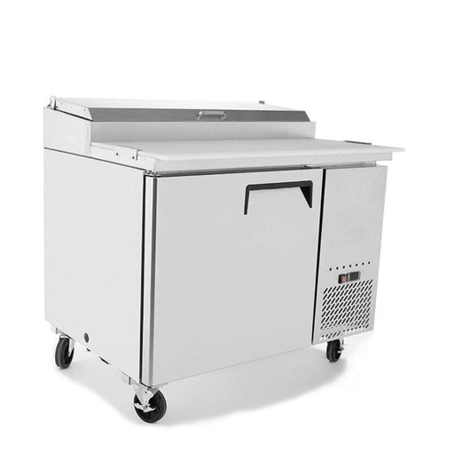 "Suttonaire MPF8201 Single Door 44"" Refrigerated Pizza Prep Table - Omni Food Equipment"