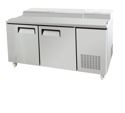 "Suttonaire MPF8202 Double Door 67"" Refrigerated Pizza Prep Table - Omni Food Equipment"