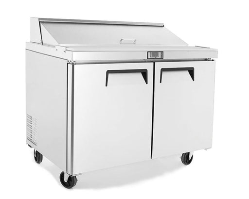 "Suttonaire MSF8302 Double Door 48"" Refrigerated Sandwich Prep Table - Omni Food Equipment"