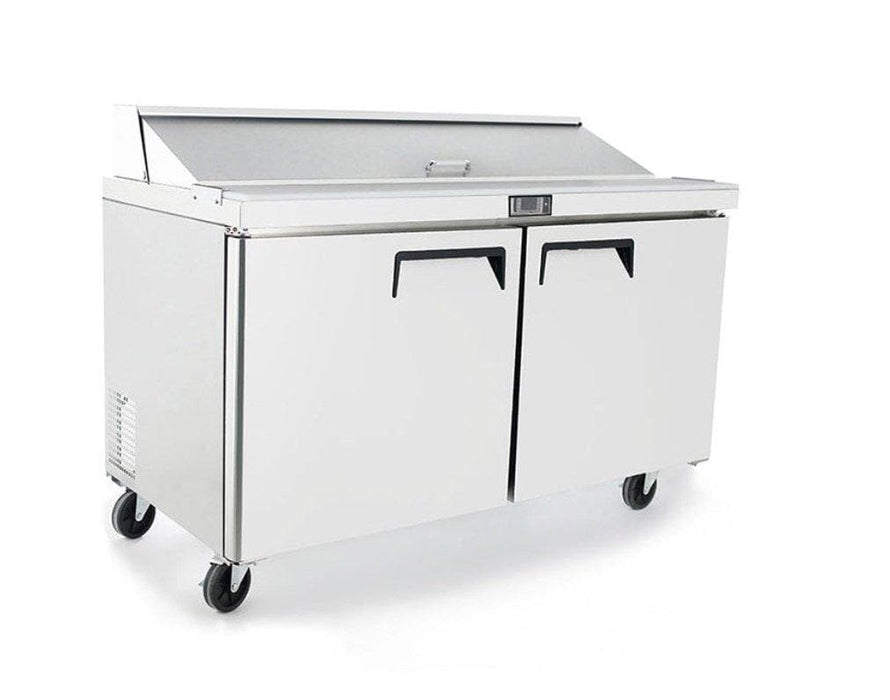 "Suttonaire MSF8303 Double Door 60"" Refrigerated Sandwich Prep Table - Omni Food Equipment"