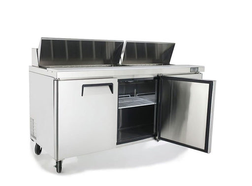 "Suttonaire MSF8304 Triple Door 72"" Refrigerated Sandwich Prep Table - Omni Food Equipment"