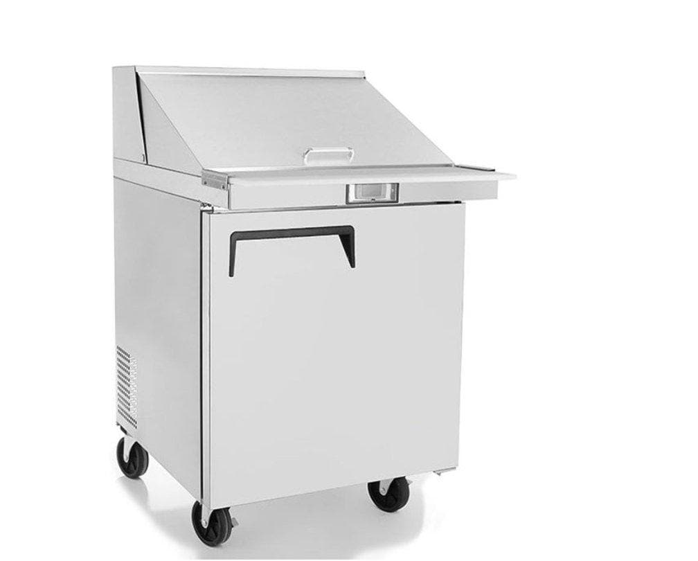 "Suttonaire MSF8305 Single Door 28"" Mega Top Refrigerated Sandwich Prep Table - Omni Food Equipment"