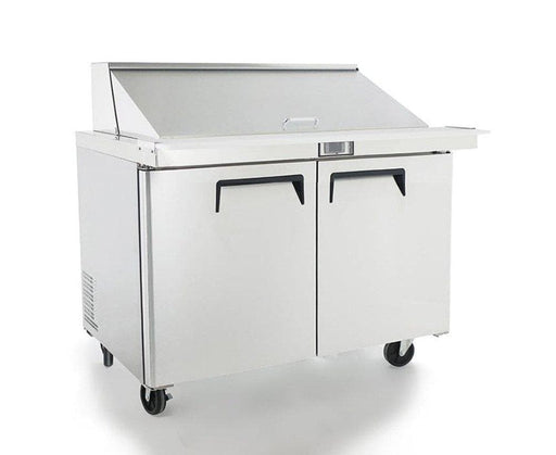 "Suttonaire MSF8306 Double Door 48"" Mega Top Refrigerated Sandwich Prep Table - Omni Food Equipment"