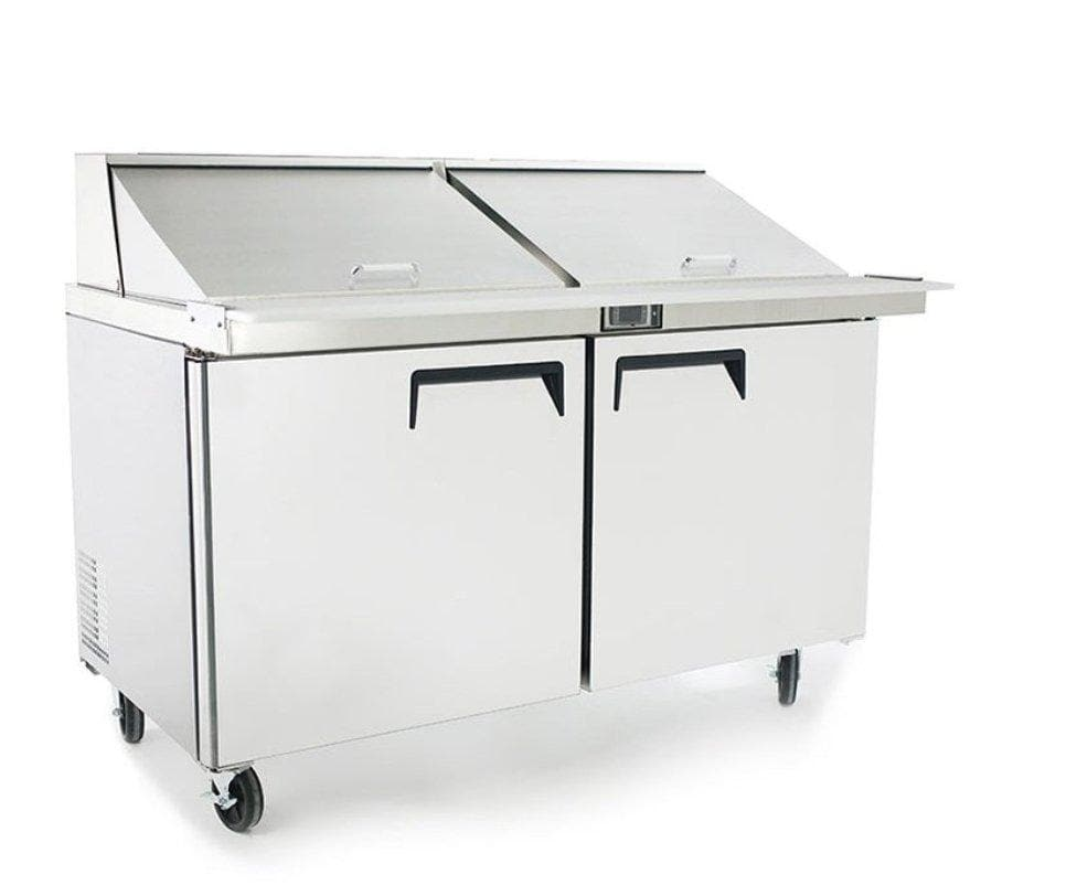 "Suttonaire MSF8307 Double Door 60"" Mega Top Refrigerated Sandwich Table - Omni Food Equipment"