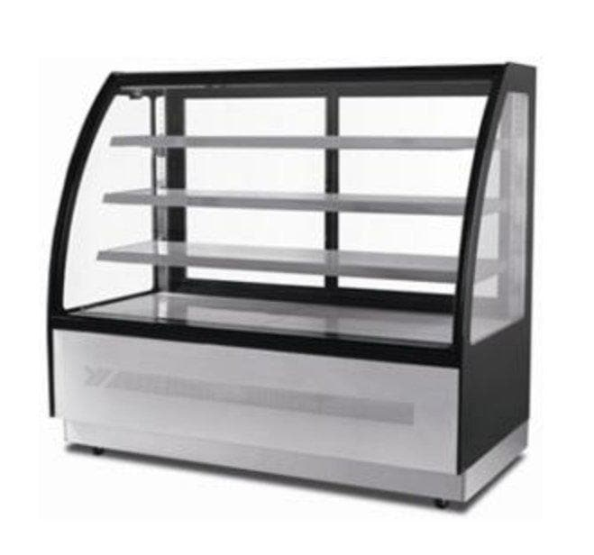 "Suttonaire WDF127D Curved Glass 47"" Refrigerated Pastry/Deli Display Case - Omni Food Equipment"