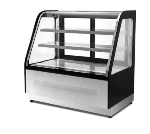 "Suttonaire WDF127X Curved Glass 47"" Refrigerated Pastry/Deli Display Case - Omni Food Equipment"