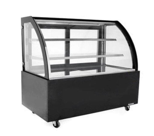 "Suttonaire WDG096D Curved Glass 36"" Refrigerated Pastry Display Case - Omni Food Equipment"