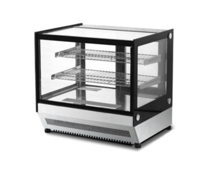 "Suttonaire WTF160L Counter Top 36"" Square Glass Refrigerated Pastry Display Case - Omni Food Equipment"