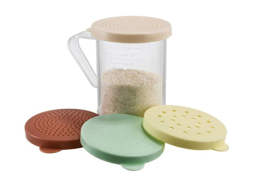 Winco 10 oz Dredge Set with 4 Coloured Snap-On Lids - Omni Food Equipment
