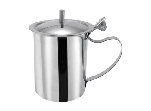 Winco 10 Oz Stainless Steel Creamer Server With Knob - Omni Food Equipment