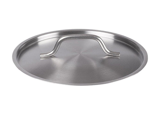 "Winco 12 1/2"" Stainless Steel Pot Cover - Omni Food Equipment"