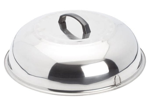 "Winco 15"" Stainless Steel Wok Cover - Omni Food Equipment"