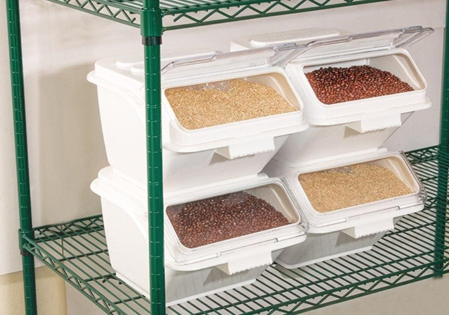 Winco 2 Gallon Shelf Ingredient Bin - Omni Food Equipment
