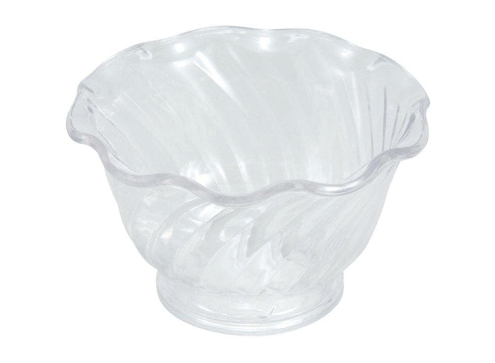Winco 5 oz Clear Ice Cream Dish (Pack of 12) - Omni Food Equipment