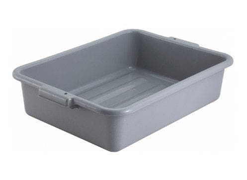 "Winco 5"" Polypropylene Dish Bin - Various Colours - Omni Food Equipment"