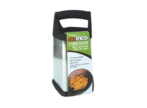 Winco 5 Sided Ergonomic Box Grater - Omni Food Equipment