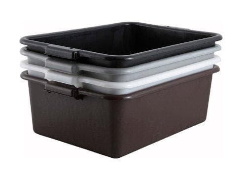"Winco 7"" Polypropylene Dish Bin - Various Colours - Omni Food Equipment"