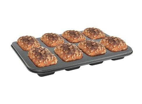 Winco 8-Cup Non-Stick Carbon Steel Mini Loaf Pan - Omni Food Equipment