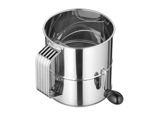 Winco 8 Cup Stainless Steel Rotary Sifter - Omni Food Equipment
