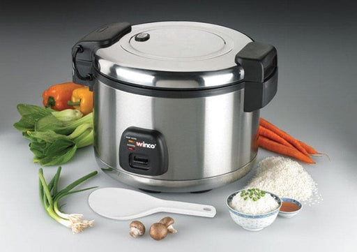 Winco Advanced Electric Rice Cooker/Warmer with Hinged Cover - Omni Food Equipment