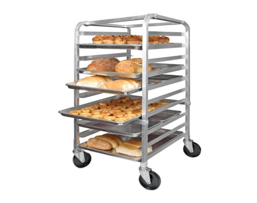 Winco ALRK-10 Aluminum WELDED 10-Tier Sheet Pan Rack, 3″ Spacing - Omni Food Equipment
