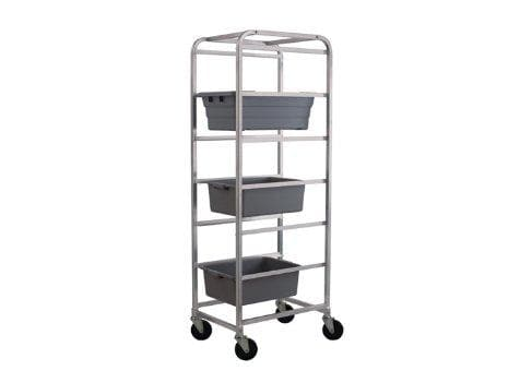 Winco Aluminum 6 Tier Bus Bin Rack - Omni Food Equipment