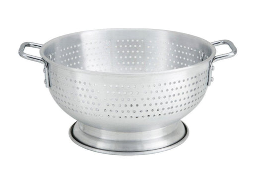 Winco Aluminum Colander with Base & Handle - Various Sizes - Omni Food Equipment